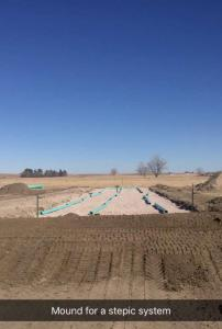 First layer of mound septic system 3-13-18